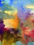 Текстурированное красочное конспекта предпосылки искусства акварели Стоковое Фото