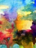 Текстурированное красочное конспекта предпосылки искусства акварели Стоковая Фотография RF