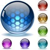 текстурированное лоснистое глобусов Стоковое Изображение RF