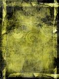 текстурированное grunge рамки зеленое Стоковая Фотография
