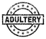 Текстурированное Grunge уплотнение печати ПРЕЛЮБОДЕЯНИЯ бесплатная иллюстрация