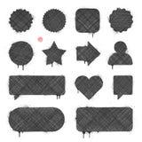 Текстурированные знамена и ярлыки Стоковые Фото