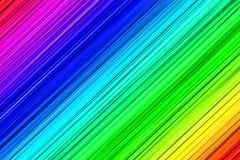 Текстурированные линии в цветах радуги Стоковые Изображения RF