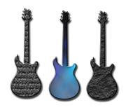 Текстурированные формы гитары Стоковые Изображения