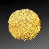 Текстурированный золотом круг пятна иллюстрация вектора
