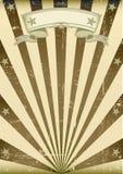 Текстурированный коричневый винтажный плакат иллюстрация штока