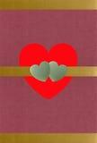 текстурированный нефрит сердец золота Стоковые Фотографии RF