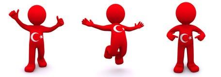 текстурированный флаг характера 3d Албании Стоковое Фото