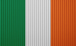 Текстурированный флаг Ирландии в славных цветах Стоковая Фотография