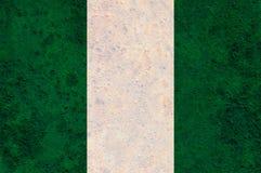 Текстурированный флаг Нигерии в славных цветах Стоковое Фото