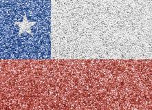 Текстурированный флаг Чили в славных цветах Стоковые Фотографии RF