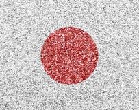 Текстурированный флаг Японии в славных цветах Стоковое Фото