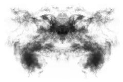 Текстурированный дым, абстрактная чернота, изолированная на белой предпосылке Стоковое фото RF