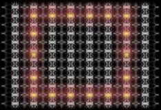 Текстурированный дым с светом, абстрактной чернотой, изолированной на задней части черноты Стоковое Изображение RF