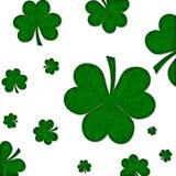 текстурированный shamrock предпосылки зеленый Стоковые Изображения