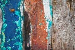 Текстурирует предпосылку ярко покрашенных панелей деревянных доск Стоковые Изображения RF