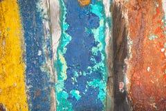 Текстурирует предпосылку ярко покрашенных панелей деревянных доск Стоковые Фотографии RF