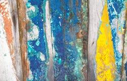 Текстурирует предпосылку ярко покрашенных панелей деревянных доск Стоковая Фотография