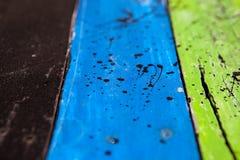 Текстурирует предпосылку ярко покрашенных панелей деревянных доск Стоковые Изображения