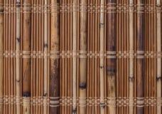 Текстурируйте бамбук с соткать ткани Стоковая Фотография
