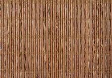 Текстурируйте бамбук с соткать ткани Стоковая Фотография RF