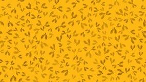 Текстурируйте безшовную картину черных ветвей завода с листьями и стержни естественного красивого солода используемого в заварива иллюстрация штока