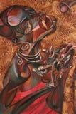 Текстурируйте картину маслом, крася автора римского Nogin, серия джаза ` ` Стоковое фото RF