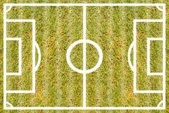 Текстурируйте курс футбола травы для картины и предпосылки дизайна Стоковое фото RF