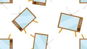 Текстурируйте экрана трубки битника картины ТВ безшовного винтажного выпуклого старое смотря предпосылку программ 60s 70s 80s 90s бесплатная иллюстрация