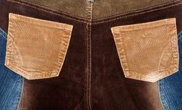 текстуры джинсыов ткани corduroy Стоковые Фото