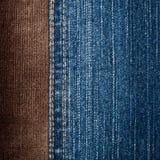 текстуры джинсыов corduroy Стоковая Фотография RF