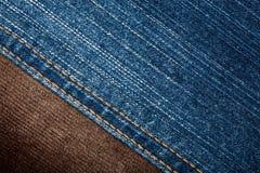 текстуры джинсыов corduroy Стоковые Изображения RF