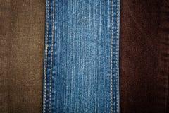 текстуры джинсыов corduroy Стоковые Фотографии RF