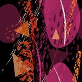 Текстуры коллажа современные Художественное современное иллюстрация штока
