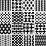 текстуры комплекта геометрических картин безшовные Стоковые Изображения