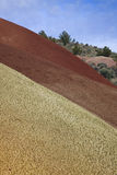 текстуры покрашенные холмами Стоковая Фотография