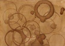 Текстуры предпосылки пятна кофе Стоковые Изображения RF