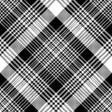 Текстуры ткани черноты шотландки тартана картина белой безшовная иллюстрация вектора