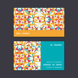 Текстуры треугольника вектора нашивка красочной горизонтальная Стоковые Фото