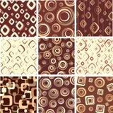 текстуры шоколада установленные Стоковая Фотография