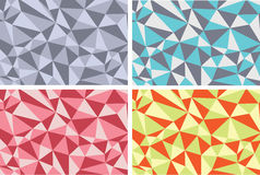 Текстуры abstarct предпосылки с треугольниками иллюстрация вектора