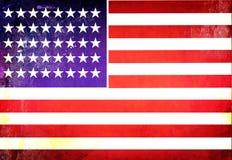 текстуры grunge американского флага Стоковое фото RF