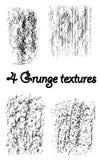 4 текстуры Grunge Стоковые Изображения