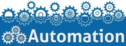 Текст автоматизации с шестернями на верхней части иллюстрация штока
