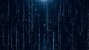 Текст данным по матрицы цифровой сток-видео