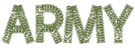 Текст армии при письма сделанные следов танка Стоковая Фотография RF