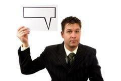 текст бизнесмена воздушного шара Стоковое Фото