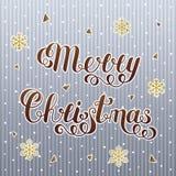 Текст Брайна градиента с Рождеством Христовым изолированный на Striped сером Bac Стоковая Фотография RF