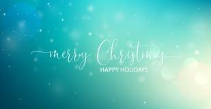 Текст веселого рождества приветствуя вектор стоковое фото