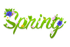 Текст весны иллюстрация вектора
